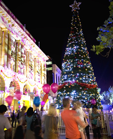 Families celebrate the Christmas spirit in Western Australia's capital