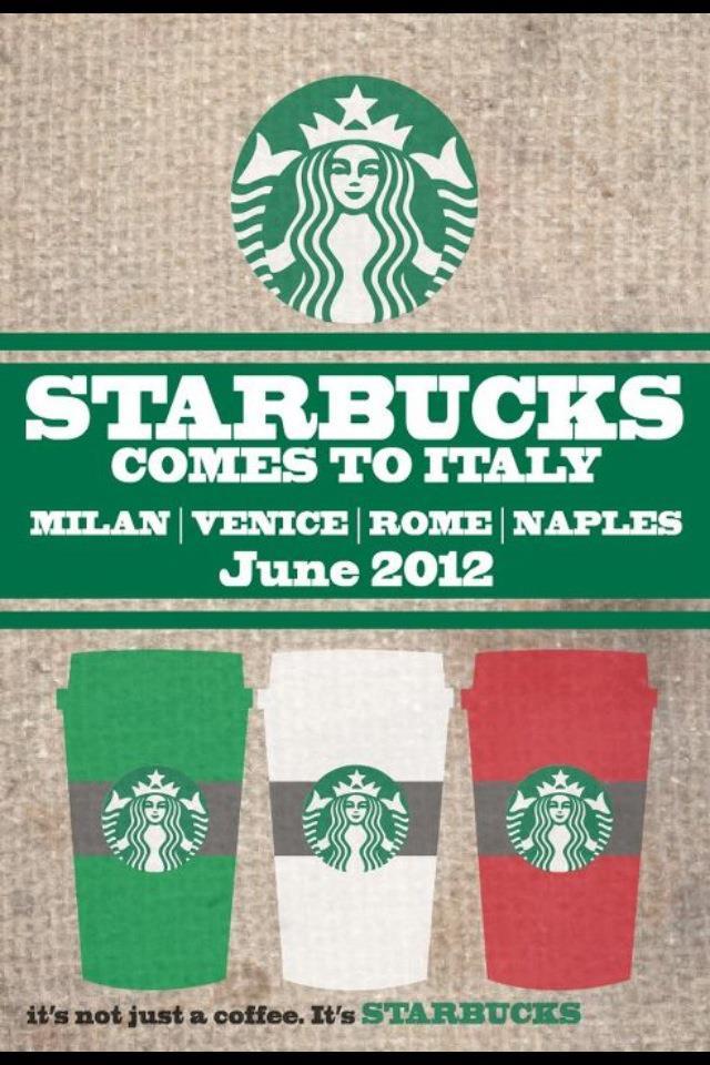 An espresso not sold at starbucks italian slugger alex for Starbucks italie