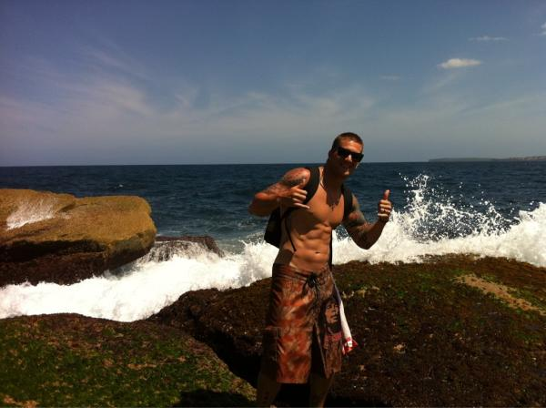 "@TheBarnyard15 Brandon Barnes tweeted in January 2012: ""Bondi Beach. One of the most amazing beaches I have ever seen."