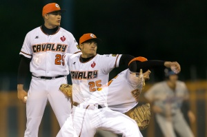 Chris Motta in ABL action for the Canberry Cavalry ( Ben Southall / SMP Images)