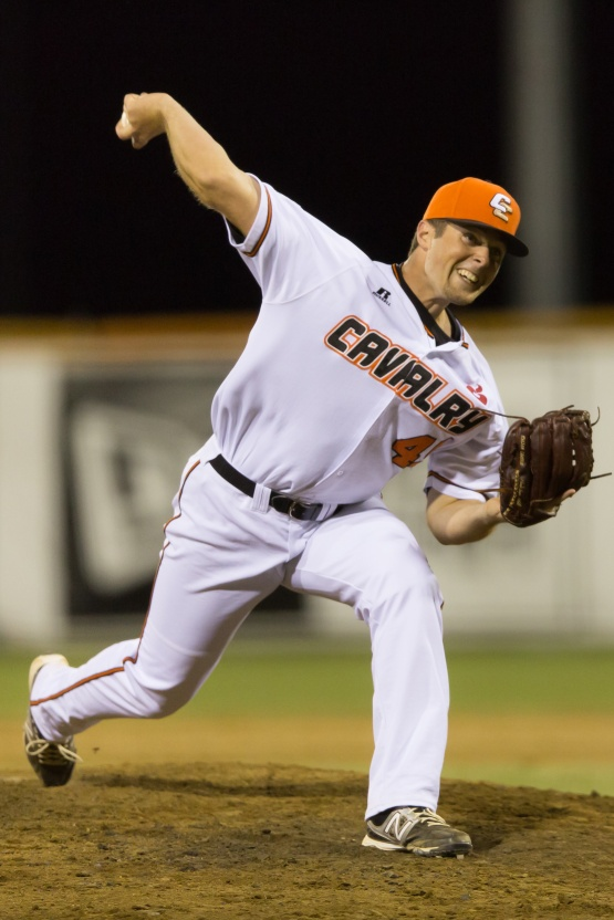 Canberra Cavalry pitcher Dustin Loggins (Photo courtesy of Ben Southall/SMP Images)