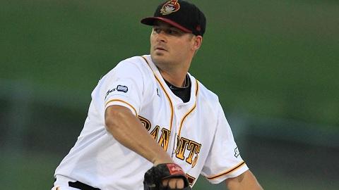 Brisbane Bandits pitcher Chuck Lofgren (Scott Powick / SMP Images)