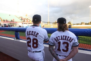 Melbourne Aces' USA imports Kevin Reese and Bubbie Buzachero (Brett Crockford / SMP Images / ABL)
