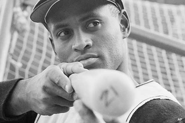 Sharp Shooter Roberto Clemente narrowly missed Expert status in the U.S. Marine Corps.