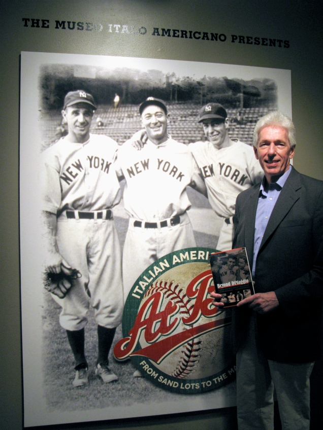 "In celebration of the upcoming April 2013 paperback release of his book ""Beyond DiMaggio"" author and 2006 WBC Team Italy interpreter Lawrence Baldassaro visited the Italian American at Bat Exhibition."