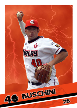 #1 Adam Buschini of the Canberra Cavalry (Photo by Adam East/ozcards.blogspot.com)