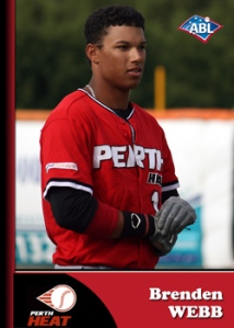 #18 Brenden Webb of the Perth Heat