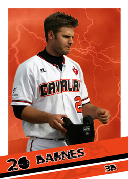 #3 Jeremy Barnes of the Canberra Cavalry