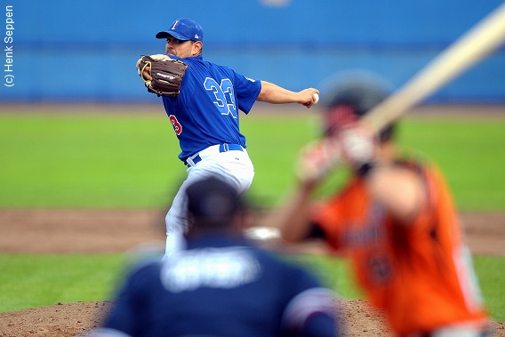 John Mariotti was the winning pitcher for Team Italy in their defeat of the Netherlands in the 2012 European Championship Final.