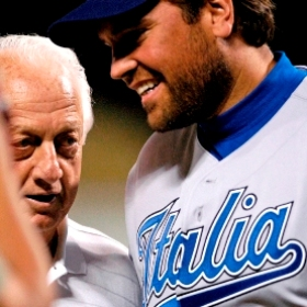 Tommy Lasorda and Mike Piazza