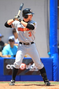 #6 Ryan Stoval batting for Team World in the 2012 ABL All-Star Game. (Scott Powick / SMP Images) Diamondbacks organization. (