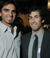 Virgil Vasquez and Ryan Spilborghs (Colorado Rockies) at the 2010 Santa Barbara International Film Festival (Santa Barbara Independent)