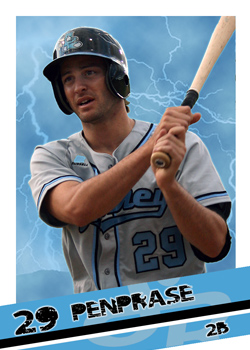 #20 Zach Penprase of the Sydney Blue Sox