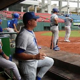 Team Italy pitching coach and Italian Baseball Academy Director Bill Holmberg