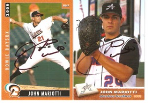 Pitcher John Mariotti advanced as high as Double-A Bowie in the Baltimore Orioles organization.