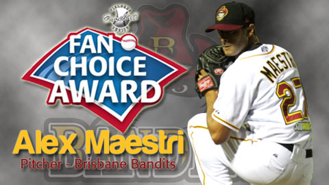 Team Italy ace Alex Maestri was a fan favorite in 2011-12 while pitching in the Australian Baseball League.