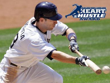 Padres' Chris Denorfia was a finalist for the 2011 Major League Baseball Players Alumni Association (MLBPAA) Heart and Hustle Award.