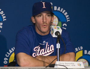 Chris Denorfia during the a 2009 WBC Press Conference in Toronto