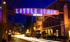 San Diego's Little Italy at night