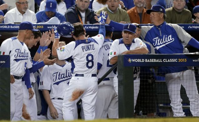 Leading off for Team Italy in the 2013 WBC, Nick Punto was always the first player congratulated in the dugout.