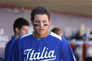 Anthony Rizzo prior to the first pitch of WBC play.