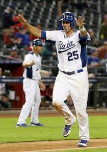 Italy's clean-up hitter Chris Colabello came up big in WBC.