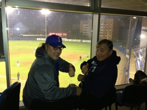 Donato Resta and Sal Varriale at a recent Parma baseball game