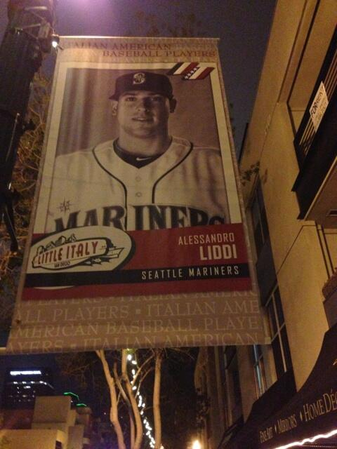 Sanremo's Alex Liddi is among the 35 baseball players of Italian descent that grace the streets of San Diego's Little Italy at the start of the MLB season.