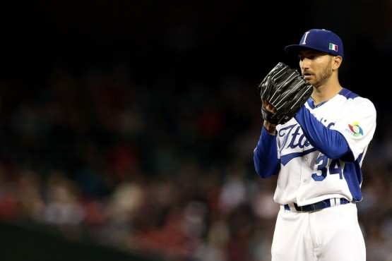 Cincinnati Reds' scout Sal Varriale originally signed 2009 and 2013 WBC Team Italy pitcher Luca Panerati, who now plays for Japan's Toyama Thunderbirds.