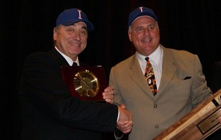 Sal Varriale and Mike Scioscia were honored for their contributions at the 2012 American Baseball Coaches Association Convention in Anaheim
