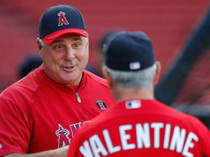 Italian managers Mike Scioscia and Bobby Valentine
