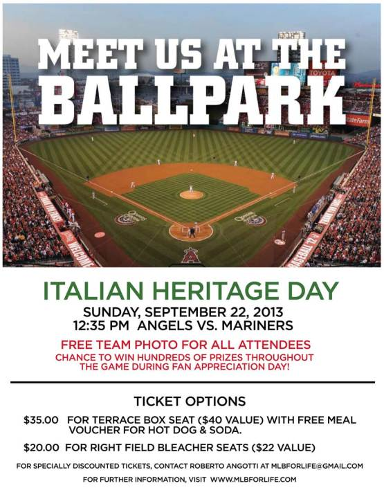 Flyer - Italian Heritage Day 9-22-13