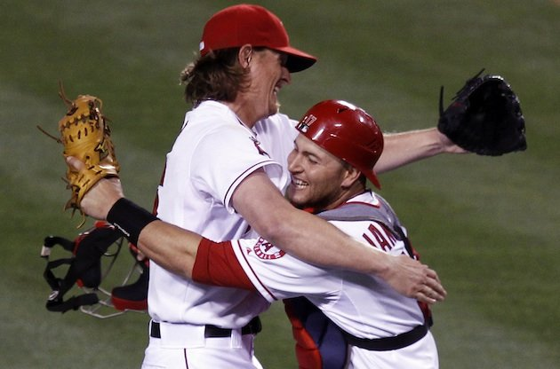 Angels' Italian American catcher Chris Iannetta caught Jared Weaver's no-hitter on May 2, 2012 at Angel Stadium.