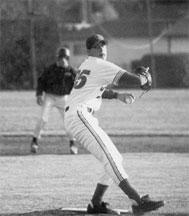 Dan Serafini pitching at Serra High School in San Mateo, CA.