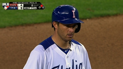 Dodgers' Drew Butera was instrumental to Team Italia's wins over Canada and Mexico.