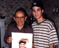 Yogi Berra and James Fiorentino at age 15