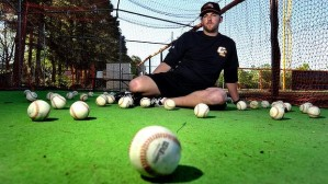 Canberra's new pitching coach Hayden Beard is delighted to have Nick Pugliese in the Cavalry bullpen.