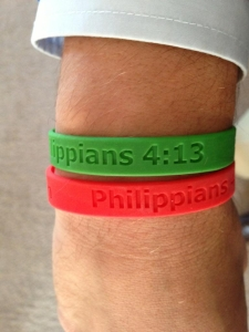 Reid Rizzo Foundation Phillipians 4:13 bracelets