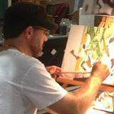 Artist Chris Felix at work