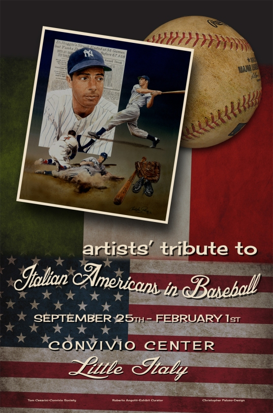 Christopher Paluso created the official banner for the Artists' Tribute to Italian Americans in Baseball