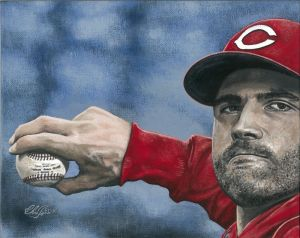 Chris Felix's depiction of Cincinnati Reds' Joey Votto
