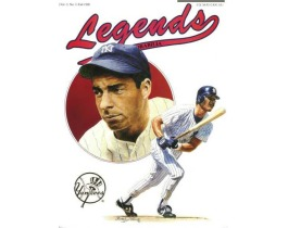Legends Magazine cover featuring Joe DiMaggio and Don Mattingingly by Christopher Paluso