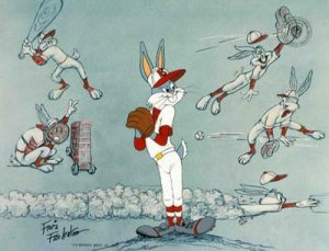"Bugs Bunny is the consummate all-star in ""Baseball Bugs"" (1946)."