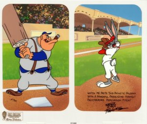 "Bugs Bunnys says: ""Watch me paste this pathetic palooka with a powerful paralyzing perfect pachhydermas percussion pitch!"" Otherwise known as the ""Bugs Bunny Changeup"", many MLB pitchers including all-time saves leader Trevor Hoffman and current aces Justin Verlander and Johan Santana rely on this pitch in their arsenal."