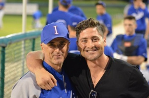Former Team Italia catcher Francisco Cervelli and manager Marco Mazzieri at Dodgertown in 2014.