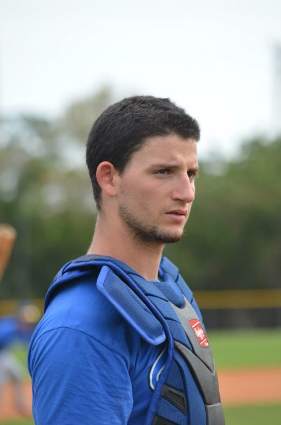18-year-old Chicago Cubs catching prospect Alberto Mineo during Team Italia's recent visit to Dodgertown in Vero Beach, Florida. (Photo by  )