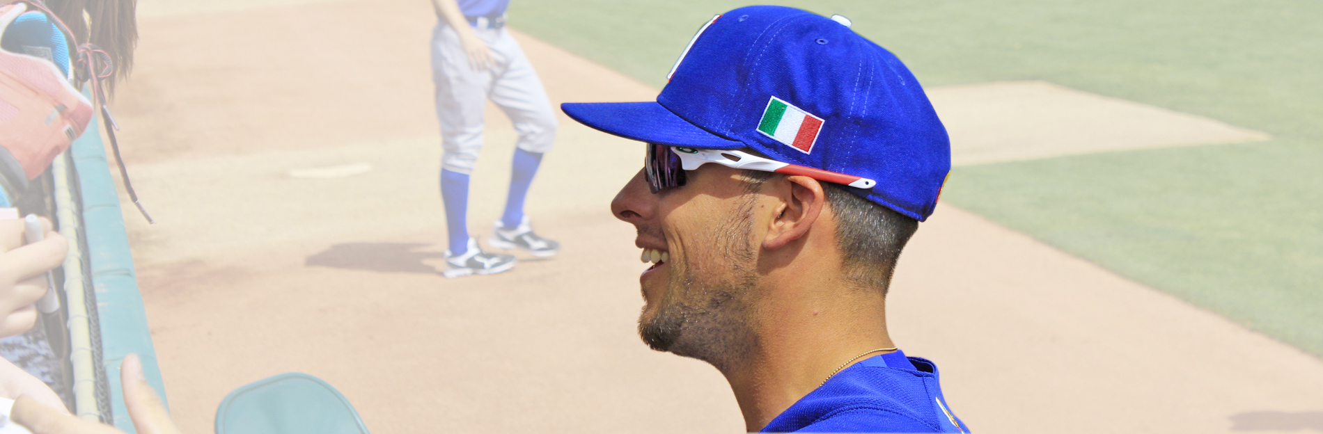 909d706eb13 Alex Liddi will have no trouble wearing Dodger blue (Photo by Nicolo  Balzani).