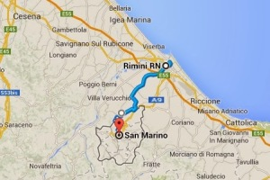Rimini and San Marino are only minutes apart.