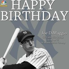 Joe DiMaggio was born on November 25, 1914 in Martinez, California.