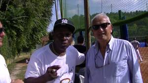 Lenny Randle and Nettuno Baseball Club President Piero Fortini